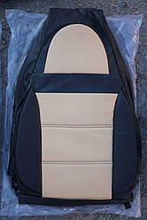 Чехлы на сиденья Киа Рио (Kia Rio) (универсальные, кожзам/автоткань, пилот)