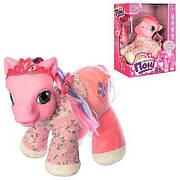 Интерактивная говорящая мягкая игрушка для девочек розовая Пони Малышка