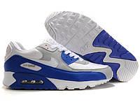 Мужские кроссовки Nike Air Max 90 белые с синим, фото 1
