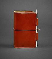 Блокнот кожаный, софт-бук коньяк 120 листов (ручная работа), фото 1
