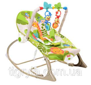Кресло качалка для детей - от 0 месяцев до 18 кг, вибро