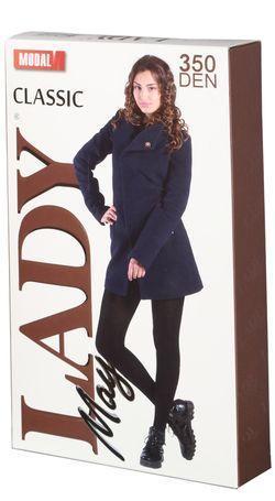 Колготки женские Lady May MODAL 350 Den, чёрные, 5 размер