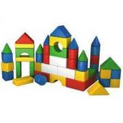 """Пластиковый первый легкий конструктор для малыша кубики блоки для строительства """"Веселка 2"""""""