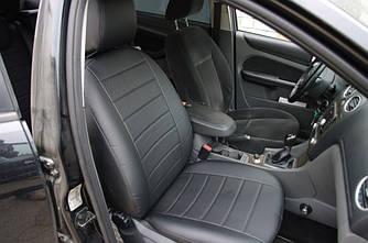 Чехлы на сиденья Мицубиси Кольт (Mitsubishi Colt) 2002-2008 г. (эко-кожа, модельные)