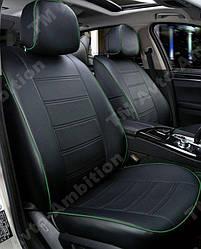 Чехлы на сиденья Мицубиси Лансер Х (Mitsubishi Lancer X) с 2007 г. (седан, 1.5, эко-кожа, модельные)