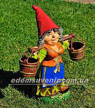 Садовая фигура цветочник Фиона, фото 3