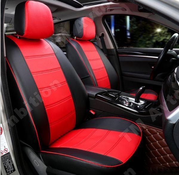Чохли на сидіння Міцубісі Лансер Х (Mitsubishi Lancer X) з 2007 р. (седан, 1.6, еко-шкіра, модельні)