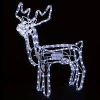 Олень новогодний LED светодиодный светящийся, с поворотом головы, высота 100 см