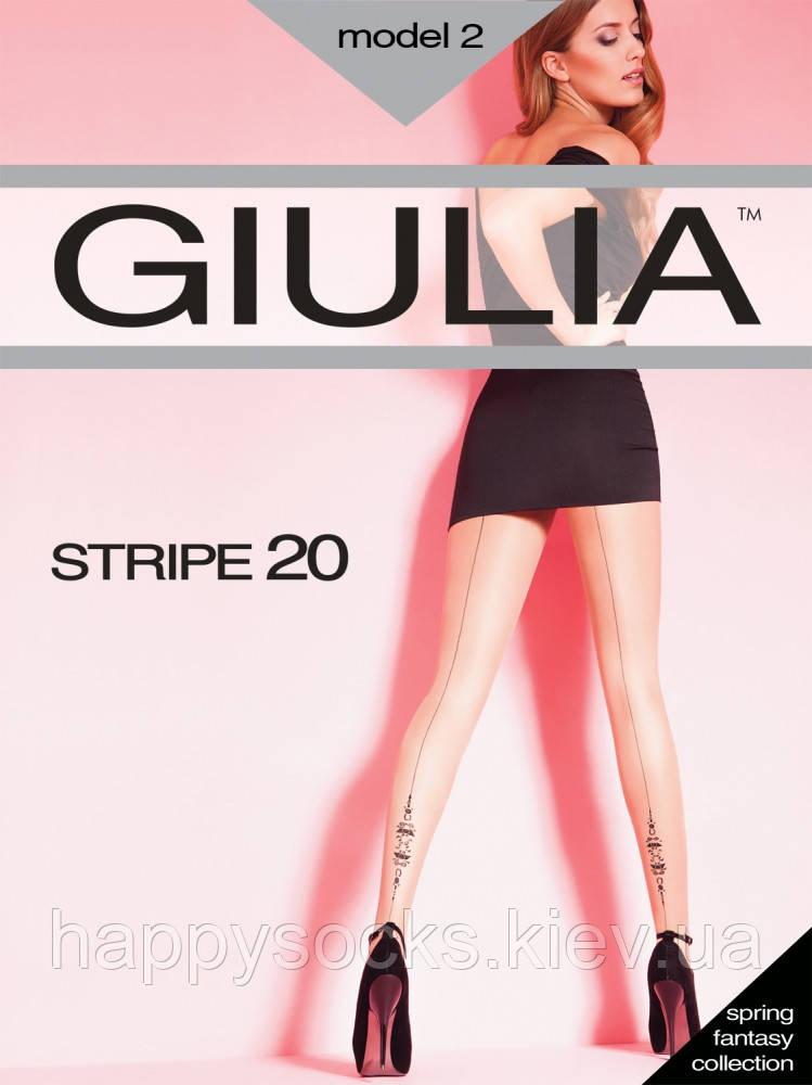 "Колготки женские ""Giulia"" со швом и рисунком 20DEN"