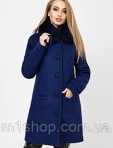Женское зимнее пальто с натуральным мехом из песца (Токио зима leo)