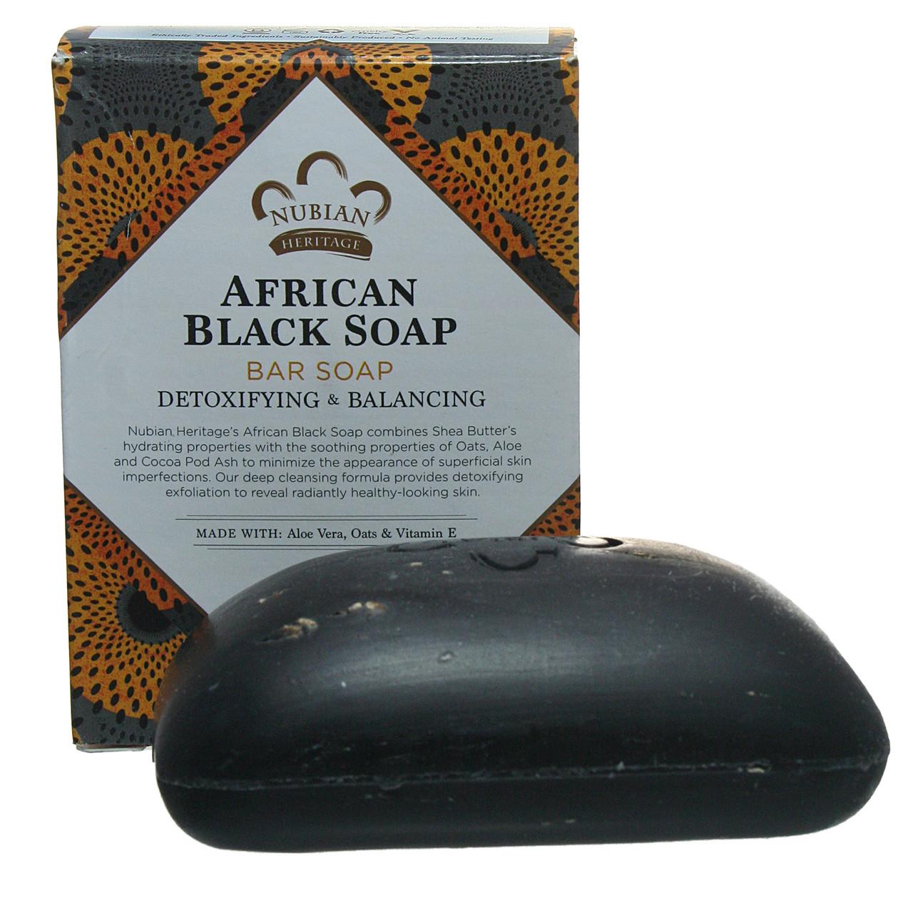 Африканское чёрное мыло Нубийское Наследие,  Nubian Herritage, 140 г