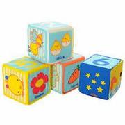 Большие мягкие развивающие обучающие Кубики Bambi (9 шт.) для малышей