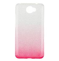 Чехол-накладка TOTO TPU Case Rose series Gradient 3 in 1 для Huawei Y7 (2017) Silver / Pink