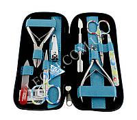 Маникюрный набор инструментов KDS 04-8106 в голубом чехле