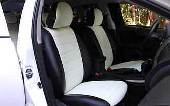 Чехлы на сиденья Пежо 107 (Peugeot 107) 2005-2012 г. (хэтчбек, эко-кожа, модельные)