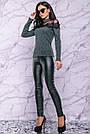 Жіночий светр, розмір 42 і 48, зелений, трикотажний з люрексом і мереживом, ошатний, фото 3