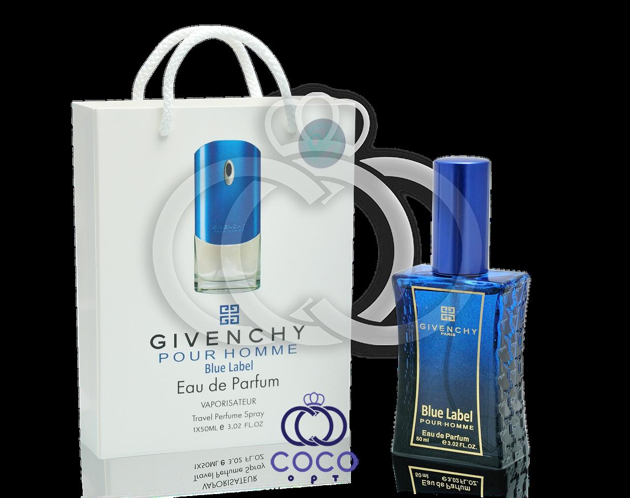 ПМужская парфюмированная вода Givenchy Blue Label в подарочной упаковке 50 мл