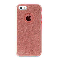 Чехол-накладка TOTO TPU Case Rose series на IPhone 5 / 5s / SE Rose Gold