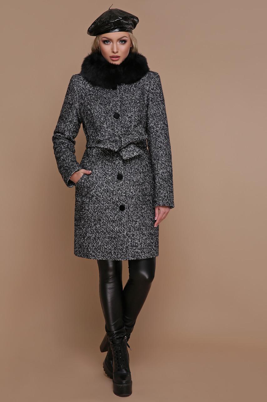 a1deca3b487 Зимнее пальто с меховым воротником черное - Интернет-магазин одежды  ALLSTUFF в Киеве