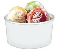 Стакан бумажный  для мороженого белый 180 мл, 50шт/уп
