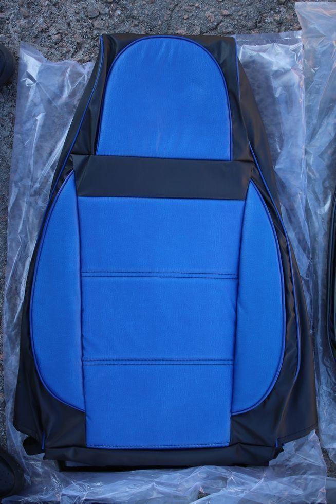Чехлы на сиденья Рено Кангу (Renault Kangoo) (универсальные, кожзам/автоткань, пилот)