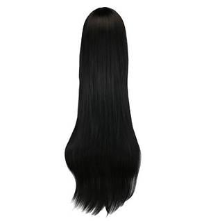 Длинные черные парики - 100см, прямые волосы, косплей, анимэ, фото 2