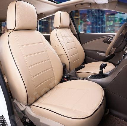 Чехлы на сиденья Рено Кенго (Renault Kangoo) 2004-2007 г. (эко-кожа, модельные, 1+1)