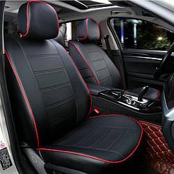 Чехлы на сиденья Рено Логан (Renault Logan) 2007-2013 г. (седан, эко-кожа, модельные)