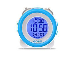 Электронный будильник голубой GOTIE GBE-200N
