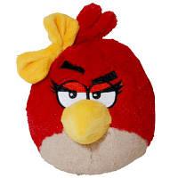Мягкая игрушка AngryBirds (птичка-девочка,красная,озвуч.,12см)