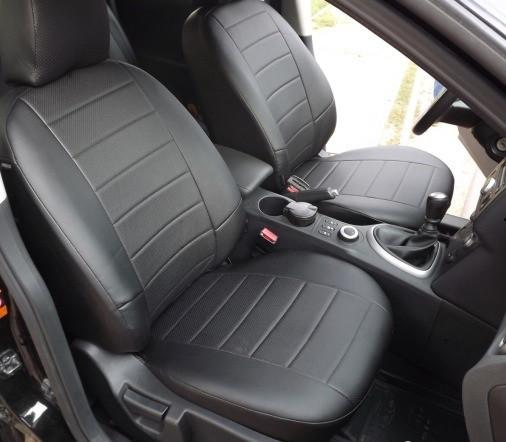 Чехлы на сиденья Рено Трафик (Renault Trafic) (универсальные, кожзам/автоткань, пилот, 1+2)