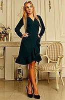 """Оригинальное женское платье на запах """"Бейлис 03"""" (изумрудное)"""