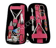 Маникюрный набор KDS 04-8106 из 8 предметов в розовом чехле