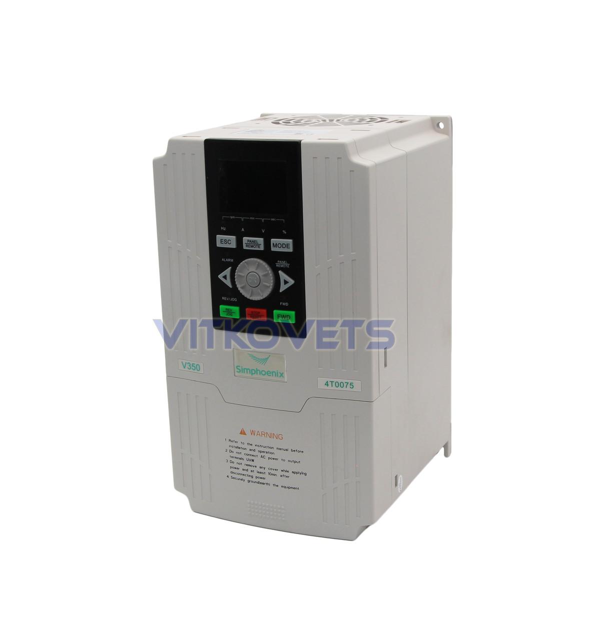 Инвертор Simphoenix V350-4T0075, 7.5KW 17A 380V
