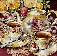 """Набор алмазной мозаики """"Чайный сервиз"""""""