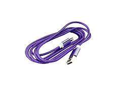 USB кабель с разъемом Lightning в тканевой оплетке 1 м., фото 3