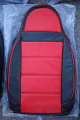 Чехлы на сиденья Фиат Линеа (Fiat Linea) (универсальные, кожзам/автоткань, пилот)