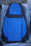 Чехлы на сиденья Фольксваген Джетта (Volkswagen Jetta) (универсальные, кожзам/автоткань, пилот)
