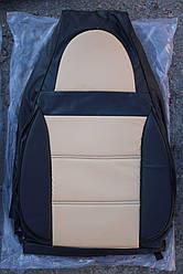 Чехлы на сиденья Фольксваген Кадди (Volkswagen Caddy) (универсальные, кожзам/автоткань, пилот)