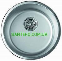 Мойка круглая врезная Cristal UA7115ZS ROMA(polish)