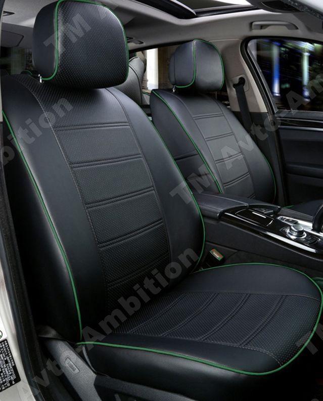 Чехлы на сиденья Фольксваген Пассат (Volkswagen Passat В5+) 2000-2005 г. (вариант, эко-кожа, модельные)