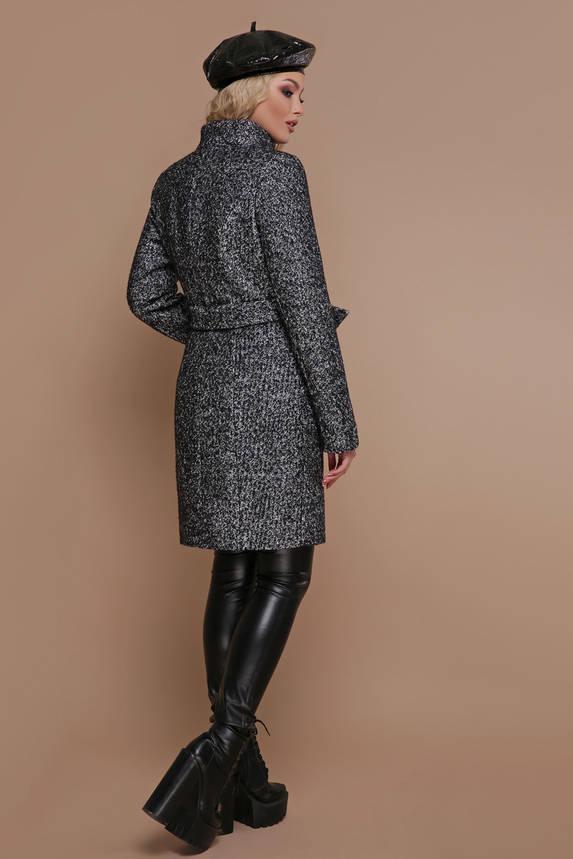 Зимнее женское пальто шерстяное черное, фото 2