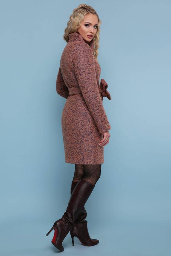 Зимнее женское пальто шерстяное розовое, фото 2