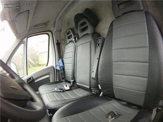 Чехлы на сиденья Фольксваген Т4 (Volkswagen T4) 1990-2003 г. (эко-кожа, модельные, 1+2)