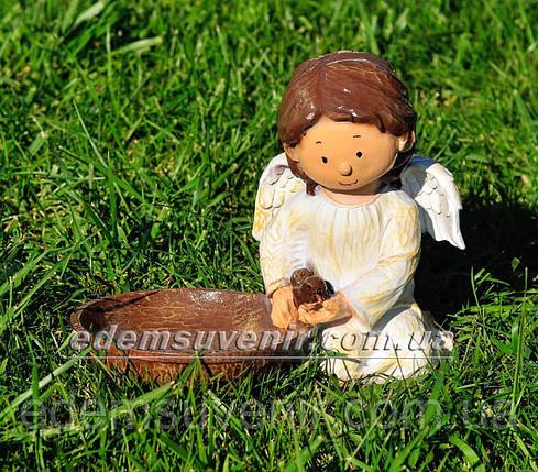 Фигура Ангелок с кормушкой, фото 2