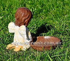 Фигура Ангелок с кормушкой, фото 3