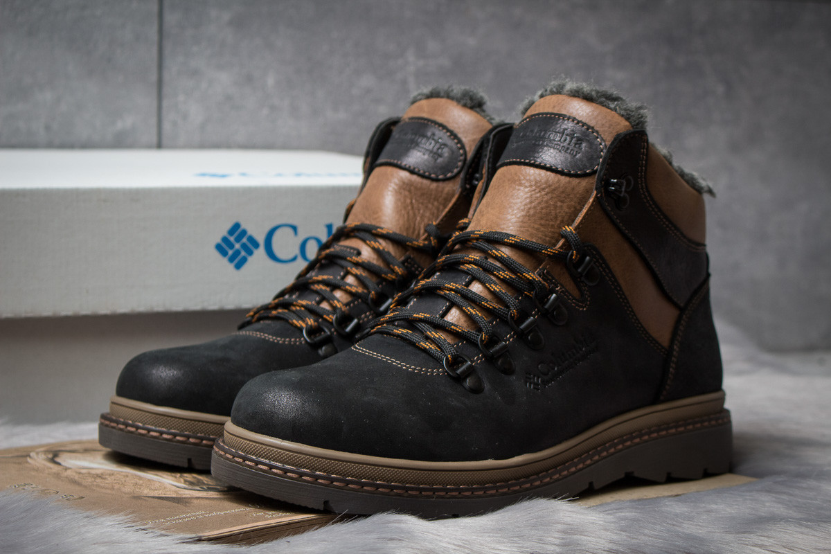Зимние ботинки на меху  Columbia Chinook Boot WP, черные (30573),  [  40 44  ]