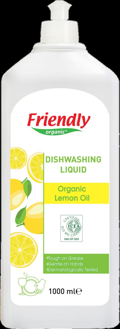 Органическое средство для мытья посуды Friendly Organic c лимонным маслом 1000 мл