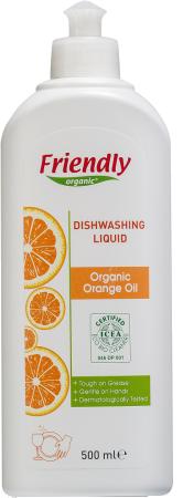 Органическое средство для мытья посуды Friendly Organic c апельсиновым маслом 500 мл