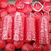 Cвеча декоративная столбик красная 10*4,5 см